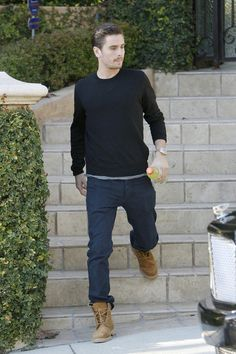 Scott Disick rocking a pair of Tim style boots.