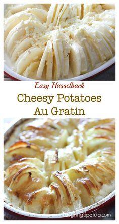 So easy but looks so impressive!  Yummy, cheesy creamy potatoes!