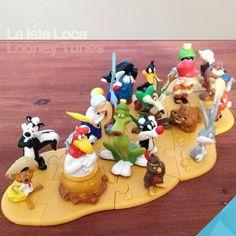 Colección de Looney Tunes, en México venían de regalo en las famosas cajitas Sonrics..¡jamás pude completar la colección!