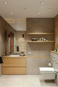 Moderno uređenje interijera apartmana za odraslog para u Jekaterinburgu. Wet Room Bathroom, Bathroom Layout, Modern Bathroom, Small Bathroom, Rustic Bathroom Designs, Bathroom Interior Design, Bathroom Styling, Home Interior, Minimalist Toilets