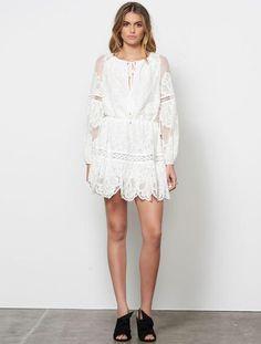 Stevie May Nina Mini Dress WHITE