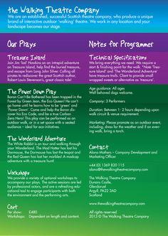Family Fun 'Open Air Theatre' Triptic back Cover