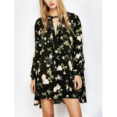 27.1$  Buy here - http://didii.justgood.pw/go.php?t=207806201 - Floral Print Long Sleeve Swing Dress 27.1$