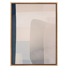 Offer enthralling elegance to your space with the minimalist palette of the Manana Framed Canvas Print from A La Mode Studio.
