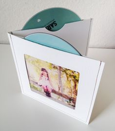 NEW Design - Stitched Double CD/DVD Case / Sleeve with 2 dvd slots and a Photo Opening (Set of 8). $26.00, via Etsy.
