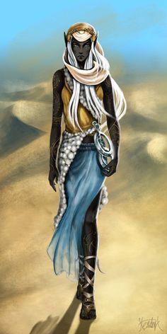 Desert Elf Witch by LucieHendrych on DeviantArt