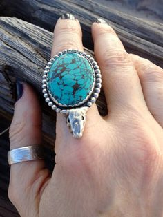 Turquoise Ranch Ring by highanddryjewelry on Etsy, $198.00