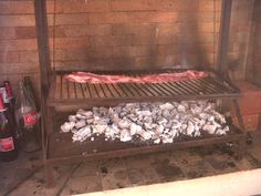 Meat cooked Argentine asado-style.