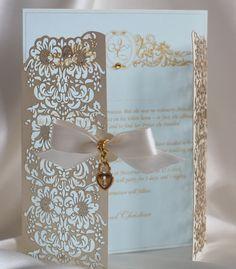 laser cut save the date | Laser cut invitation | Wedding - Invitations / Save…
