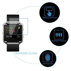Tempered Glass 2.5D Round Egde Ultra Clear Film Screen Protector for Fitbit Blaze Smart Fitness Watch
