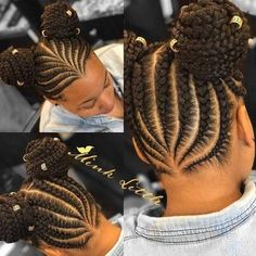 Kids Hairstyles 200 Likes 2 Comments Natural Hairstyles Black Girl Hairstyles For Kids Comments Hairstyles Kids likes Natural Girls Natural Hairstyles, Braided Hairstyles For Black Women, African Braids Hairstyles, Teen Hairstyles, Natural Hair Styles, Braid Hairstyles, Hairstyle Ideas, Children Hairstyles, Braids For Kids