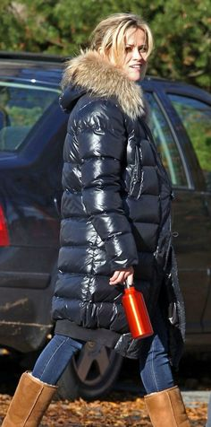 Reese Witherspoon In Long Down Coat