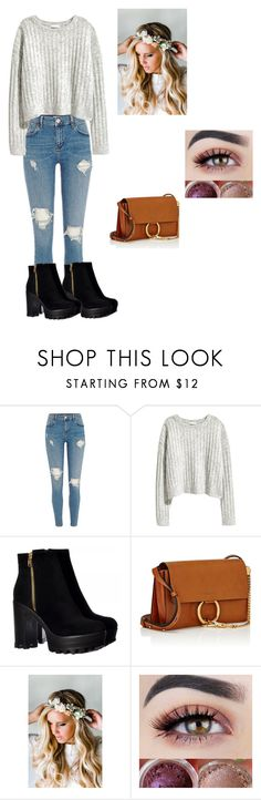 """""""Fall Look🍂"""" by sydneyweaver476 ❤ liked on Polyvore featuring H&M, Chloé and Emily Rose Flower Crowns"""