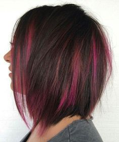 40 Two Tone Hair Styles. Two-toned hair and styles- dark brown with pink highlights . 22 Ways to Style Pretty Two-Tone Hairstyles: Red and Red Hair Color, Brown Hair Colors, Cool Hair Color, Purple Hair, Burgundy Hair, Turquoise Hair, Violet Hair, Red Purple, Ombre Hair