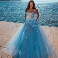Stunning Prom Dresses, Pretty Prom Dresses, Tulle Prom Dress, Cheap Prom Dresses, Homecoming Dresses, Bridal Dresses, Prom Dresses Blue, 15 Dresses, Blue Gown Dress
