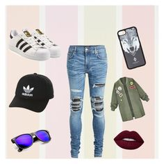 """""""Glossy girl😍"""" by cherxliefs on Polyvore featuring adidas, AMIRI, adidas Originals and Marcelo Burlon"""