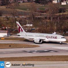 The Qatar Airways Dreamliner at ZRH - by @mrpetitvoyageur