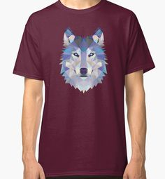 Game Of Thrones Polygonal Dire Wolf | RedBubble Dark Red Classic TShirt | All Sizes Available for Men @redbubble @RedHillStudios