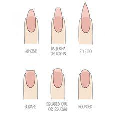nail shapes - Buscar con Google