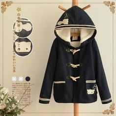 Buy 'Angel Love – Cat Print Hooded Toggle Jacket' with Free International Shipping at YesStyle.com. Browse and shop for thousands of Asian fashion items from China and more!