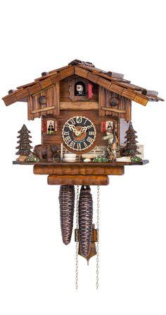 Hones 1-Day Chalet Black Forest House Hunter Cuckoo Clock 151