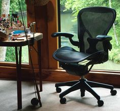 Aeron chair -- the best office chair ever (I own one of these)
