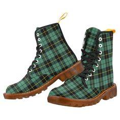 Tartan Boot – Campbell Argyll Ancient Martin Boot – Your Tartan Clan Buchanan, Clan Macdonald, Campbell Clan, Clan Macleod, Floral Combat Boots, Tartan Fashion, Large Leather Tote Bag, Faux Fur Boots, Tartan Pattern