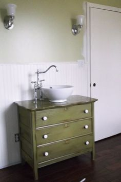old dresser turned into bath vanity, Debra B. of Michigan City, IN, top picks for unusual bath vanities from the search for america's best remodel 2014