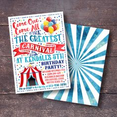 Hey, I found this really awesome Etsy listing at https://www.etsy.com/listing/475825444/carnival-invitation-carnival-birthday