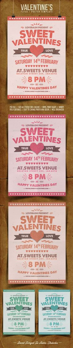 ValentineS Day Flyer  Flyer Template Party Flyer And Font Logo