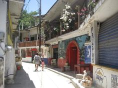 This is what the Yelapa's town looks like. One of my favourite places in Mexico. Walking down the cobblestone street to the waterfall.