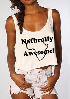 Afro-Natural-Adinkra- Naturally Awesome Africa Boxy Tank top  (S,M,L,XL,) via Etsy