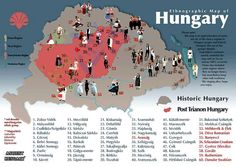 Ethnographic Map of Hungary Fortune Telling Cards, Hungarian Embroidery, Central Europe, Budapest Hungary, My Heritage, Cartography, World War I, Creative Teaching, France
