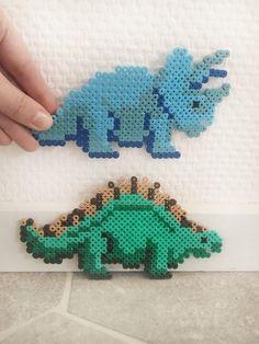 Perle dinosaurer part 2 Hama Beads Design, Hama Beads Patterns, Beading Patterns, Hama Beads Animals, Hama Beads Disney, Pearl Beads Pattern, Perler Bead Templates, Peler Beads, Iron Beads
