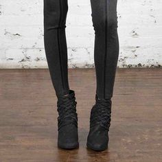 Today's obsession, our Leather Inset Legging of course. A chic new statement to our bestselling Ponte Legging. | #purejoytowear #lysseloves
