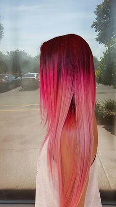 44 ideas for nails red pink pastel hair – Nails – Hair Red Pink Ombre Hair, Pastel Pink Hair, Red Ombre, Bright Hair, Pretty Hair Color, Beautiful Hair Color, Red Hair Color, Color Red, Nails Yellow