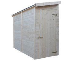 Armario de aluminio para exterior con tejado y puertas for Tejados madera leroy