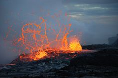 Bubble bursts at the Waikupanaha ocean entry near Kalapana, HI. Kilauea Volcano Aug 2008, by volcanoimage, via Flickr