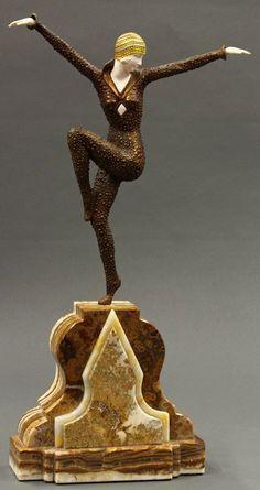 Demetre Chiparus - Art Déco - Sculpture 'Danseuse de Kapurthala'