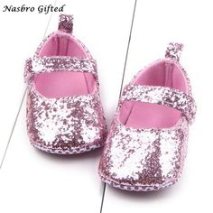 Toddler Girl Soft Sole Crib Shoes Sequins Shoes Crib Shoes 948110b88f8b