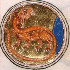 Medieval Dragon,The Gorleston Psalter, Add MS 49622 f.5v, c.1310-1324