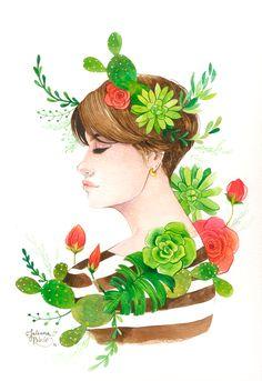 "Juliana Rabelo ♥ illustration ""Tudo vive dentro"" III"