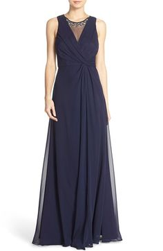 Eliza J Embellished Chiffon Fit & Flare Gown (Regular & Petite) available at #Nordstrom