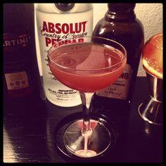 Blood & Peppar Absolut Peppar, Martini Rosso, Cherry Heering & blood orange from Sicily. #fswf http://ift.tt/1FXgXm1