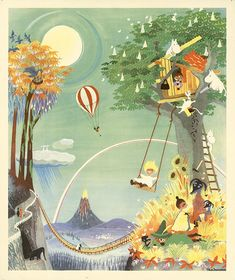 Moomin poster by Tove Jansson - The Rainbow House – The Official Moomin Shop Moomin House, Moomin Shop, Tove Jansson, Rainbow House, 3d Art, Moomin Valley, Children's Book Illustration, Cool Art, Images