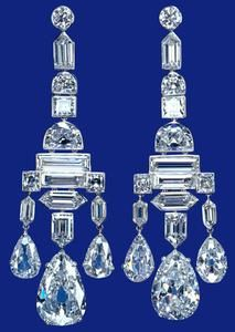 Deco Diamond Earrings