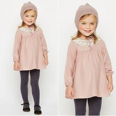 Ohhh... La #robe à col dentelle est trop mignonne  #nicoli #minilook #lovely #bébé #love #kids #cute #fillette #tendance #charming #winter http://www.nicoli.fr/boutique/Vestido-cuello-encaje-rosa.html