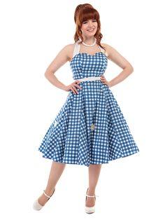 Daisy Paintet Gingham Swing Dress