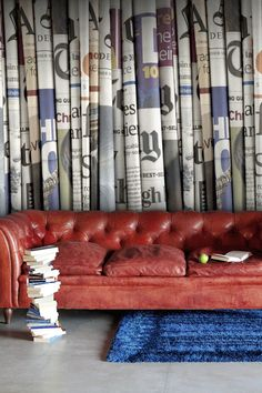 Mr Perswall - Communication - Daily News - Read All About It - Newspaper Wallpaper - Mural
