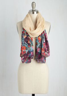 Gardeners' Getaway Scarf. An out-of-town adventure for rare plants makes packing this lightweight scarf purely instinctual! #cream #modcloth